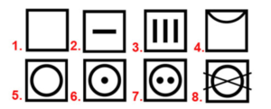Символи за сушене на прането