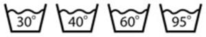 Символи за температура на пране