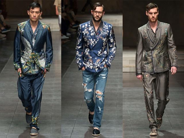 Мъжка мода принтове сака